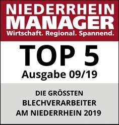 NIEDERRHEIN MANAGER - TOP 5 - Blechverarbeiter